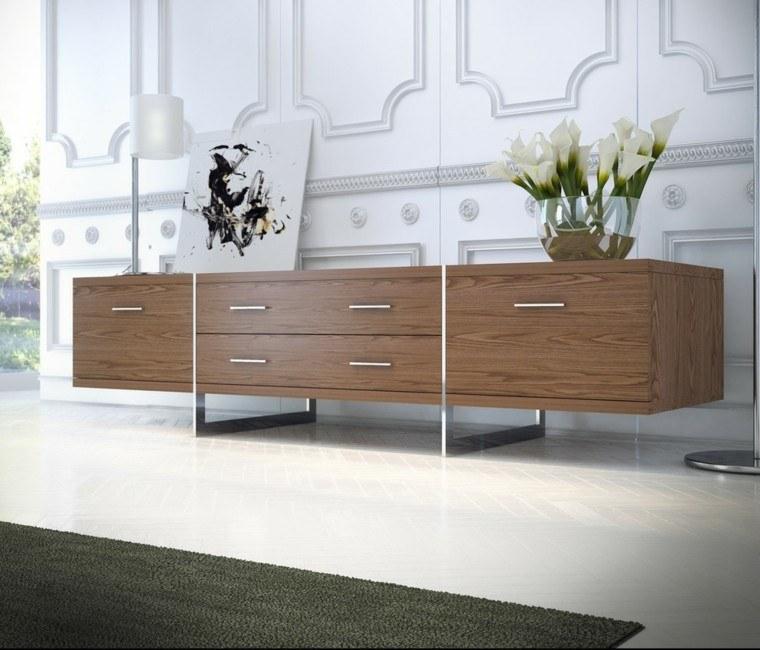 muebles salon laminados madera