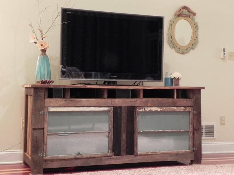 Muebles hechos con palets de madera cincuenta ideas for Mueble salon palets
