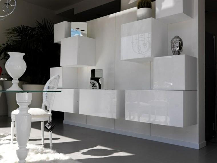 Muebles de salon modernos y funcionales menos es m s for Muebles de salon lacados