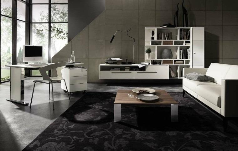 muebles blancos salon moderno diseño