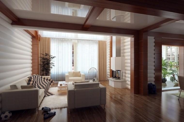 Division de interiores en madera - Paredes interiores de madera ...