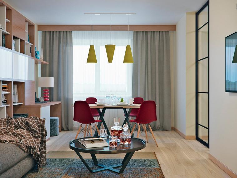 muebles comedor abierto salon escritorio apartamento pequeno ideas