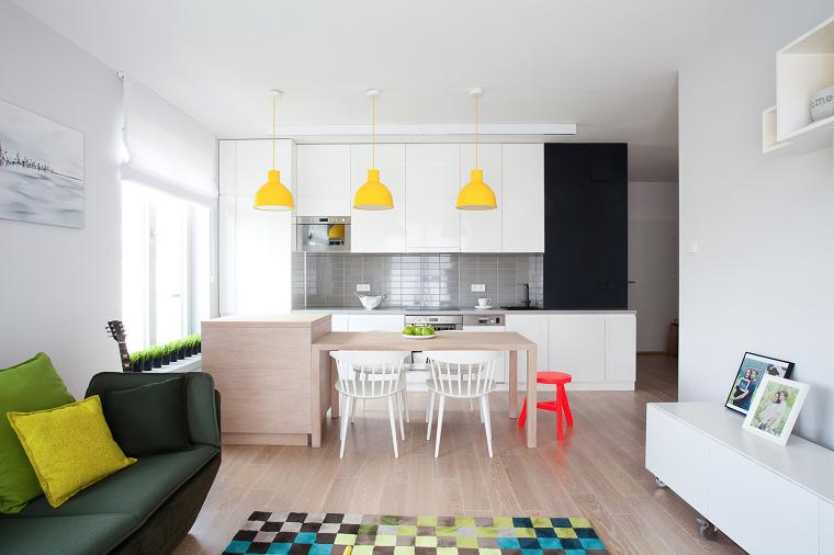 muebles comedor cocina salon abierto isla madera ideas
