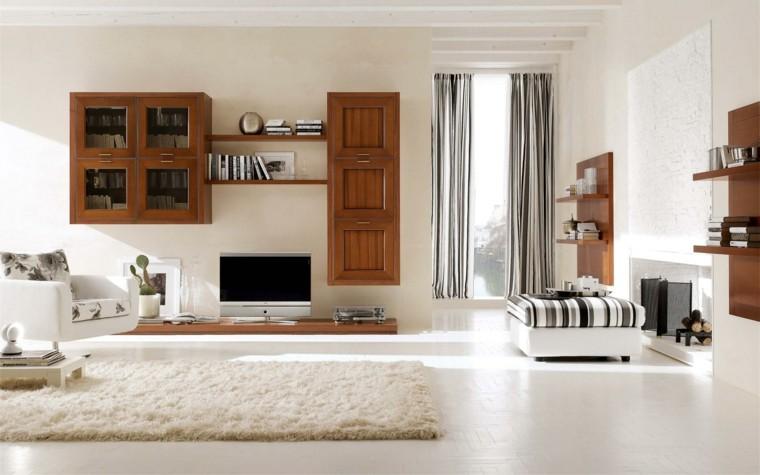 muebles de salon modernos seccion madera