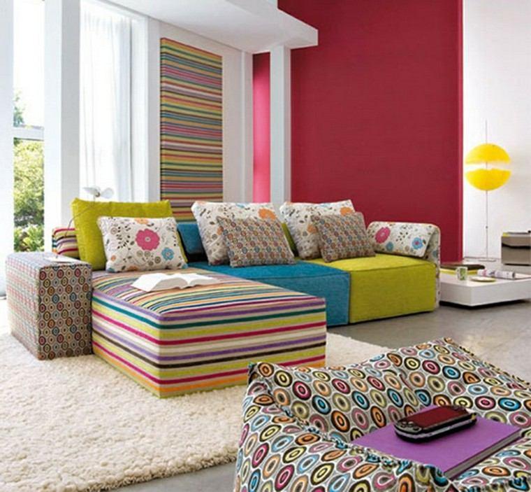 muebles diseño muchos colores suaves