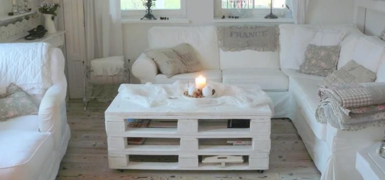 muebles hechos con palets blanco madera cojines