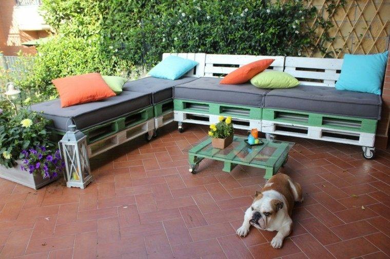 Muebles hechos con palets 100 ideas para el hogar - Como hacer muebles de jardin con palets ...