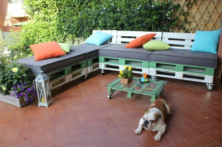 muebles jardin con palets
