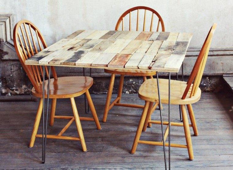 muebles hechos con palets mesa madera