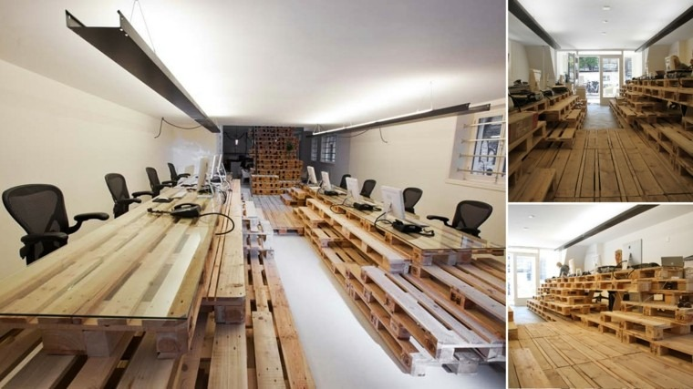 muebles hechos con palets oficina diy sillas