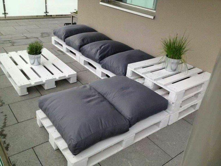 muebles hechos con palets plantas madera - Muebles Jardin Palets