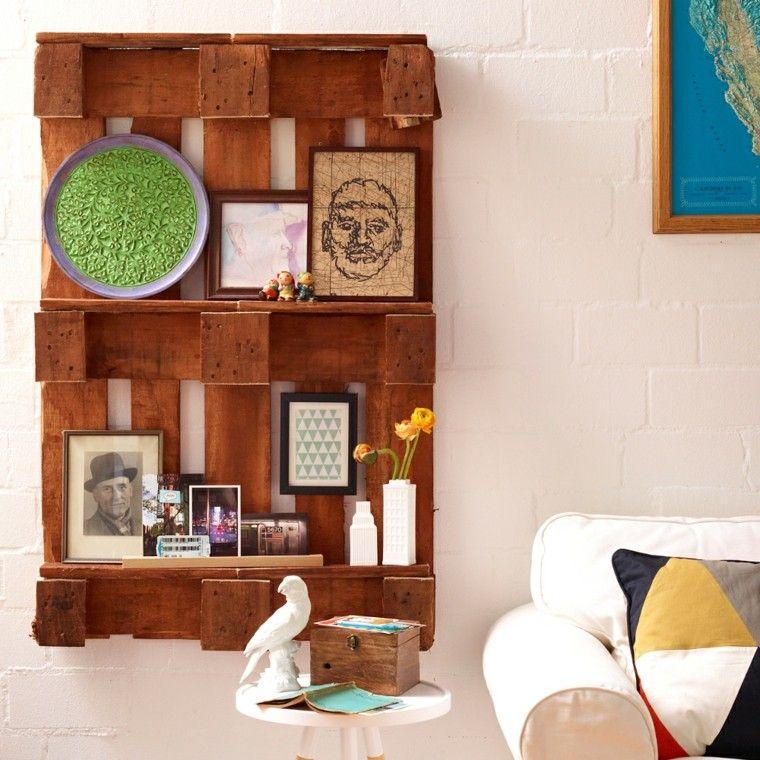 muebles hechos con palets plato paloma estante