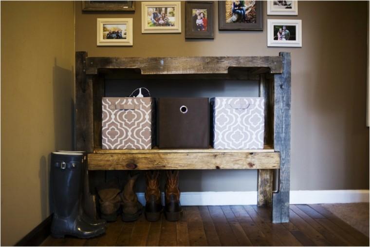 Muebles hechos con palets de madera cincuenta ideas for Modelos de zapateros de madera