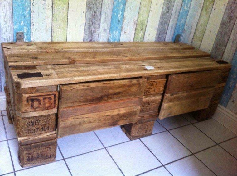 Muebles hechos con palets 100 ideas para el hogar for Muebles hechos con palets