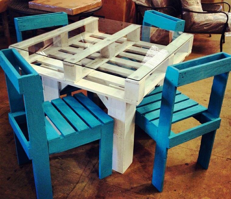 Muebles hechos con palets 100 ideas para el hogar - Sillas con palets ...