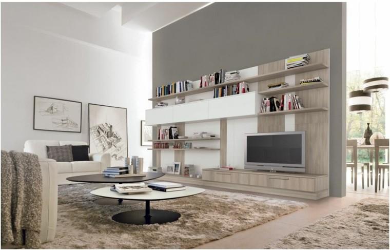 muebles laminados madera salon moderno