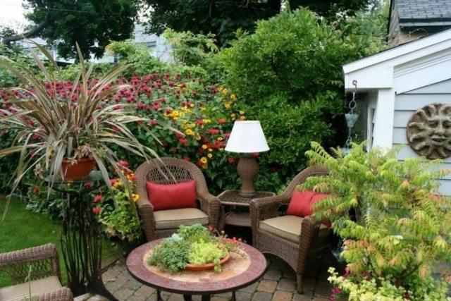 muebles mimbre decoracion jardin
