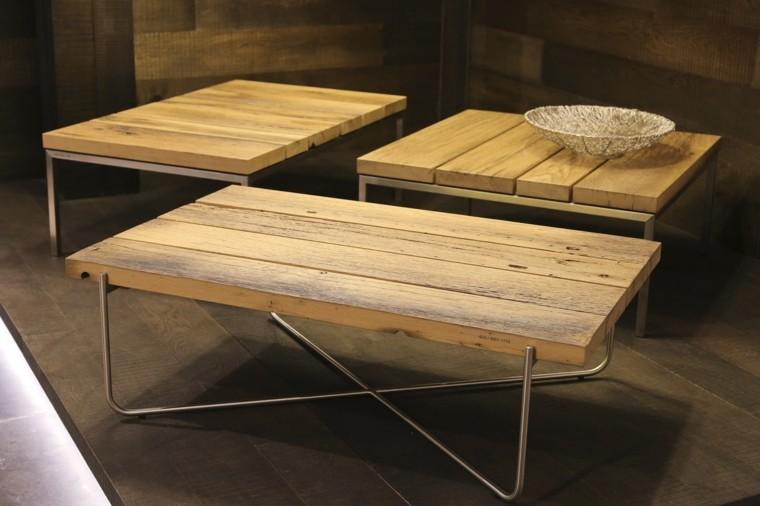 Muebles de salon modernos y funcionales menos es m s for Muebles de madera modernos