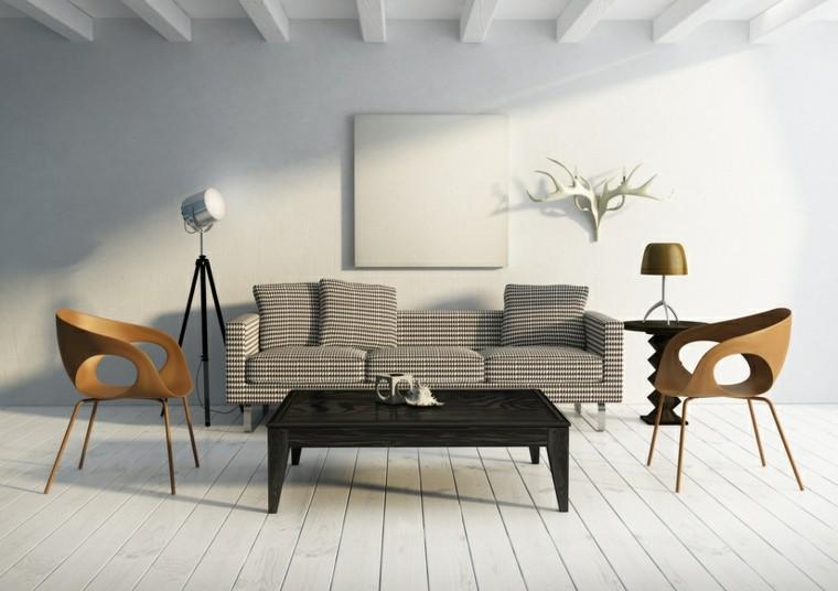 muebles modernos diseño salon cuernos