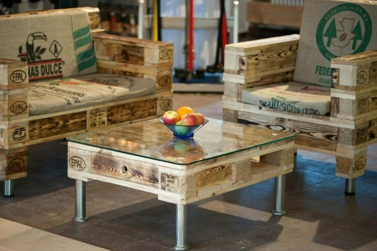 Muebles hechos con palets de madera cincuenta ideas - Palets muebles reciclados ...