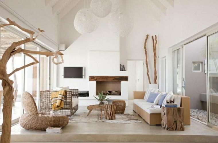 muebles preciosos salon ramas arbol grandes ideas