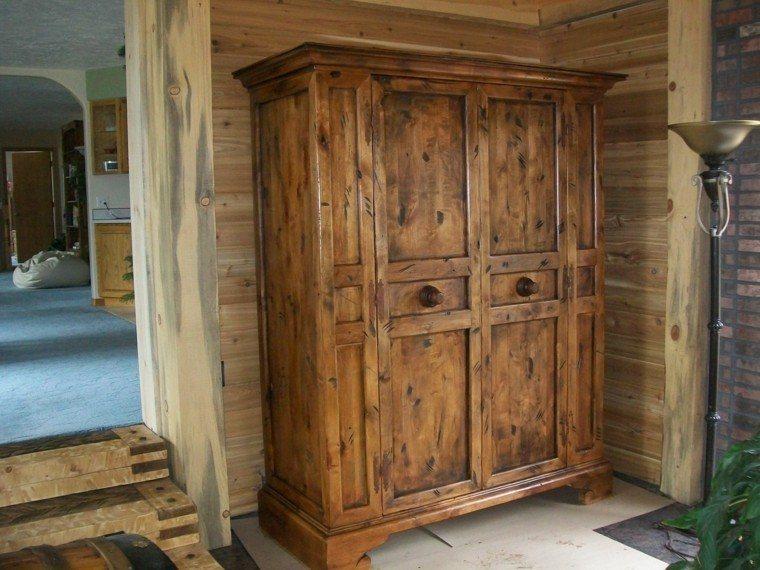 muebles rusticos armario mano acabado lampara