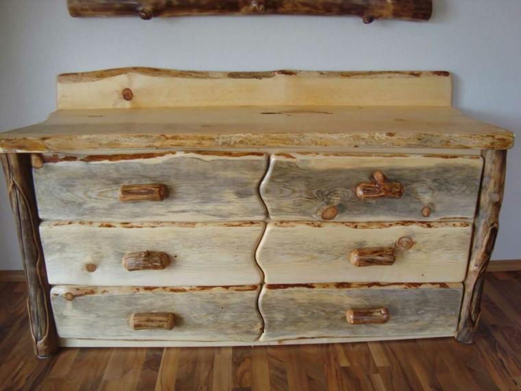 muebles rusticos comoda madera natural gavetas
