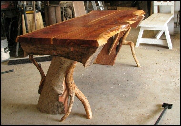 muebles rusticos mesa alta pulida creativo
