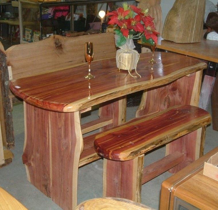 Muebles rusticos aires campestres para todo espacio for Bar de madera chile