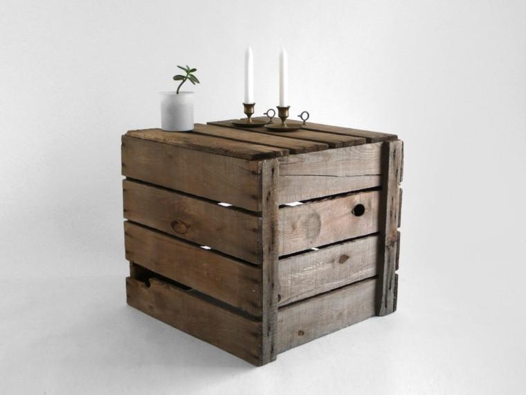 muebles rusticos mesa vela caja madera