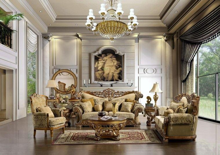 muebles salon estilo victoriano mesa redonda ideas