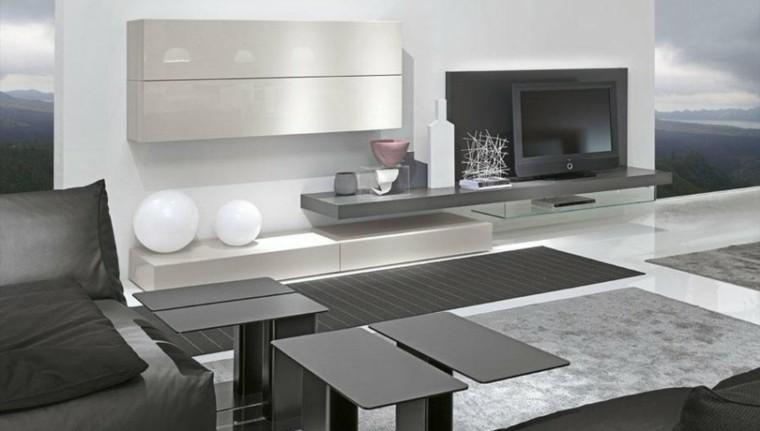 Muebles de salon modernos y funcionales menos es m s for Muebles de salon modernos blancos