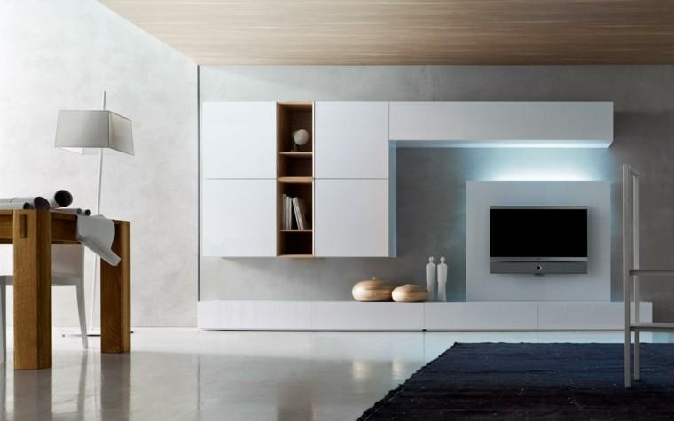 Muebles de salon modernos y funcionales menos es m s - Luces para salon ...