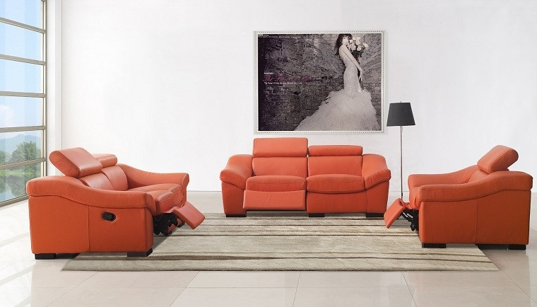 muebles salon modernos cuero funcionales lampara