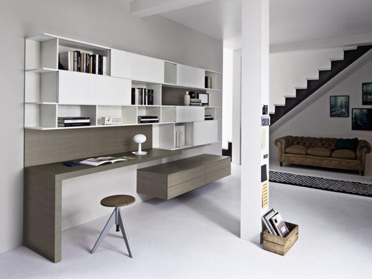 Muebles de salon modernos y funcionales menos es m s - Escritorio salon ...