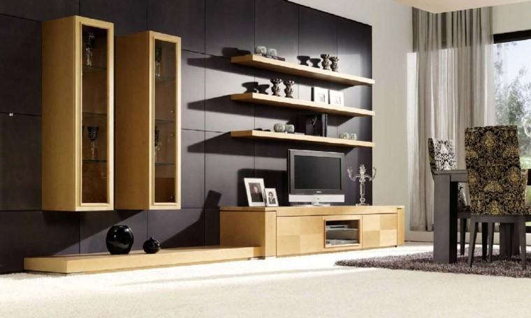 Muebles de salon modernos y funcionales menos es m s for Salones de madera modernos