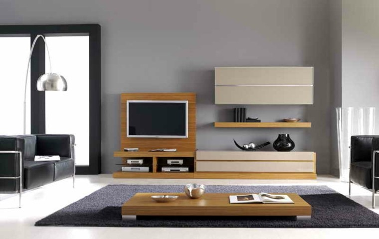 muebles salon modernos madera laminada