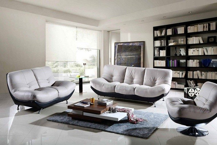 muebles salon modernos sofa estante