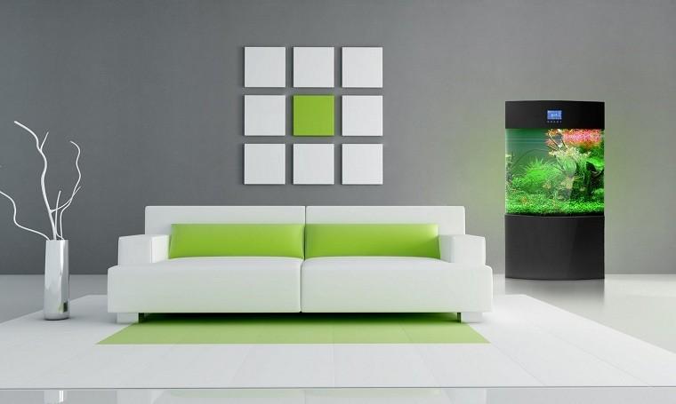 muebles salon modernos verde jarron minimalista