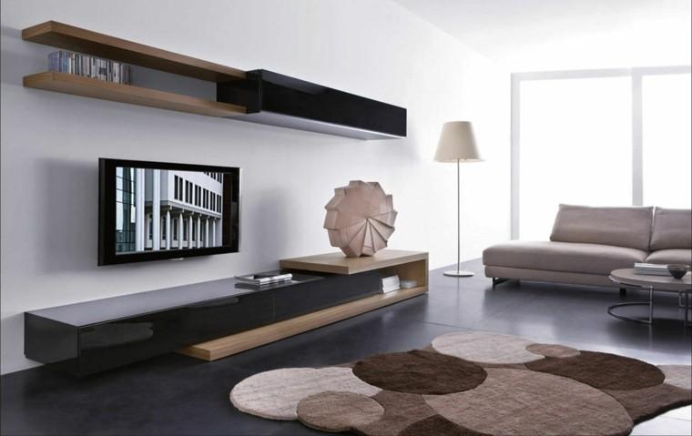 Muebles de salon modernos y funcionales menos es m s - Muebles madera salon ...