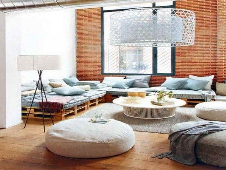 Ideas con palets 75 creaciones para personalizar tu espacio - Muebles hechos con estibas ...