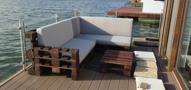 Attractive Muebles Terraza Palets Madera Agua
