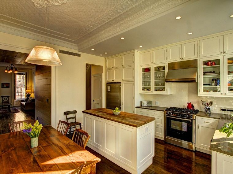 Muebles vintage en la cocina ideas a lo cl sico muy for Ideas de cocina comedor