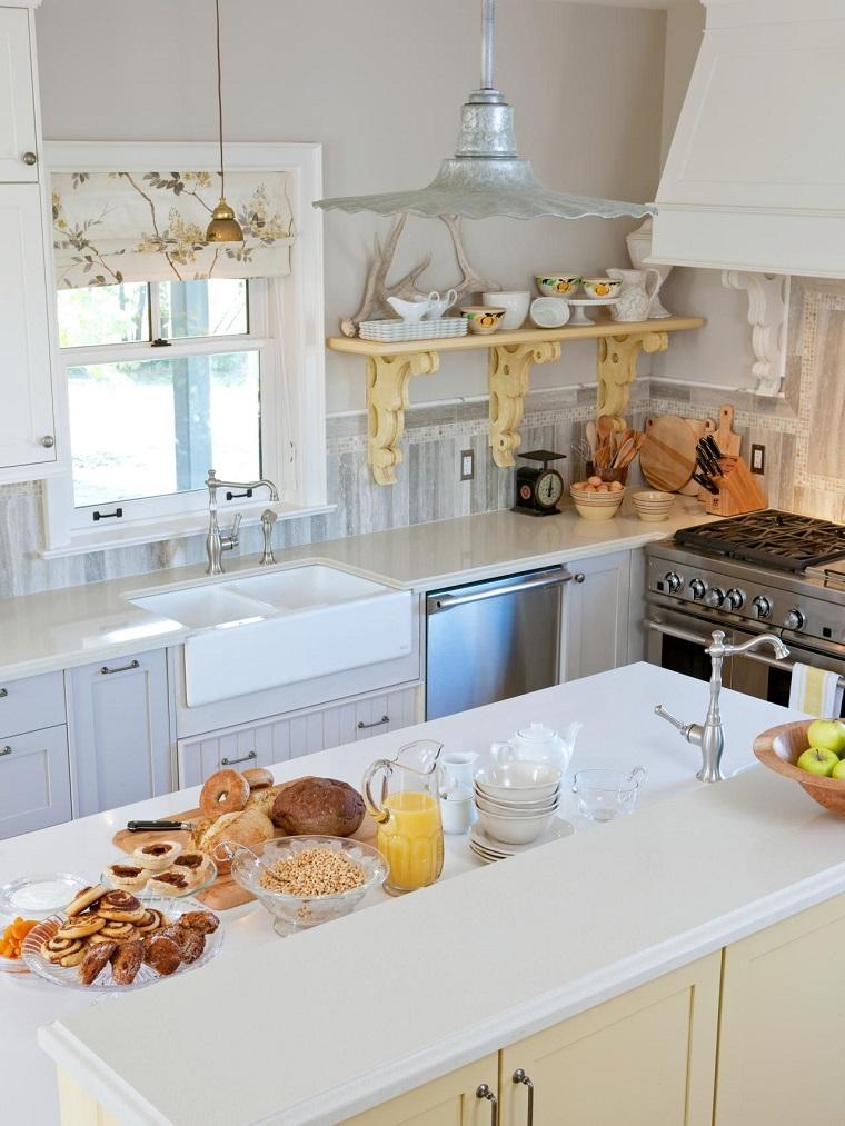 muebles vintage cocina estante lampara original ideas