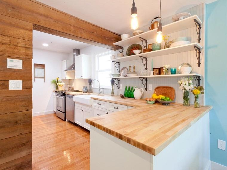 Muebles blancos de madera 20170817014511 for Muebles cocina madera