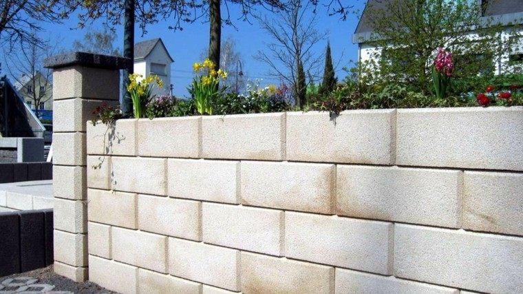 muro alto flotes ideas rodear casa moderna