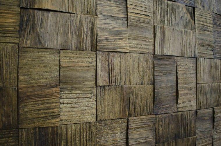 Revestimiento de paredes exteriores 50 ideas Revestimiento de madera para muros interiores