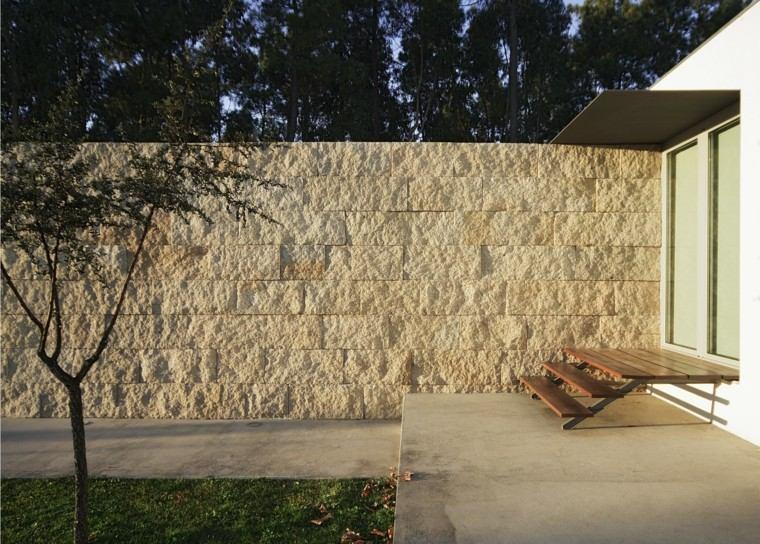 muro grande intimidad jardin estilo minimalista ideas