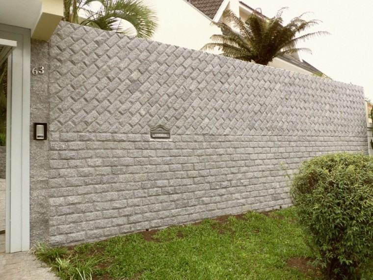muro jardin buzon pared piedra