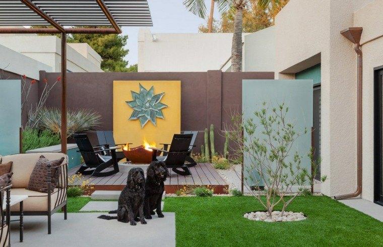 muro jardin dos perros flor